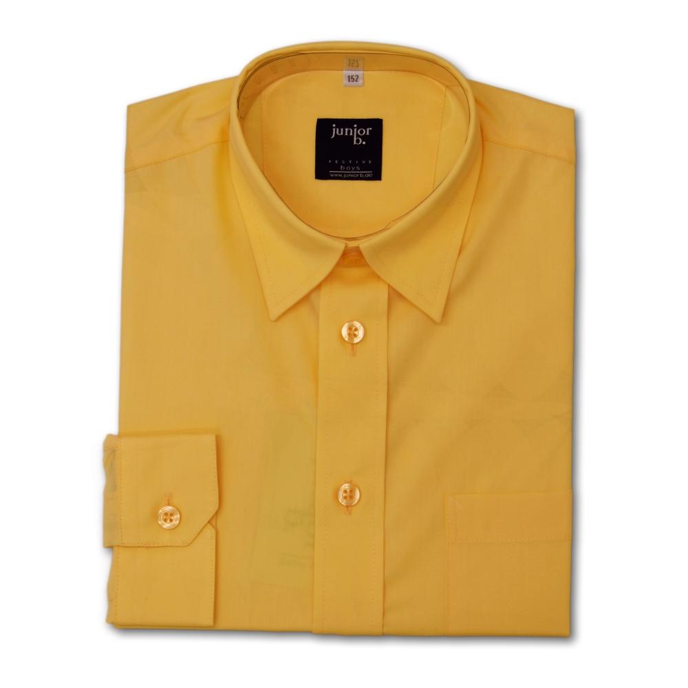 hemd f r jungen in gelb kommunionhemd von junior b. Black Bedroom Furniture Sets. Home Design Ideas