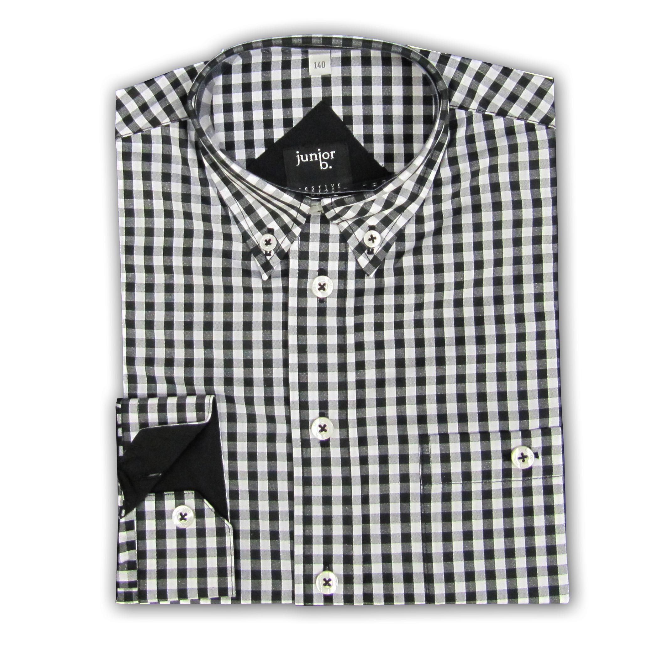 Außergewöhnlich Hemd für Jungen schwarz/weiß kariert - Kommunionhemd von Junior B &AK_69