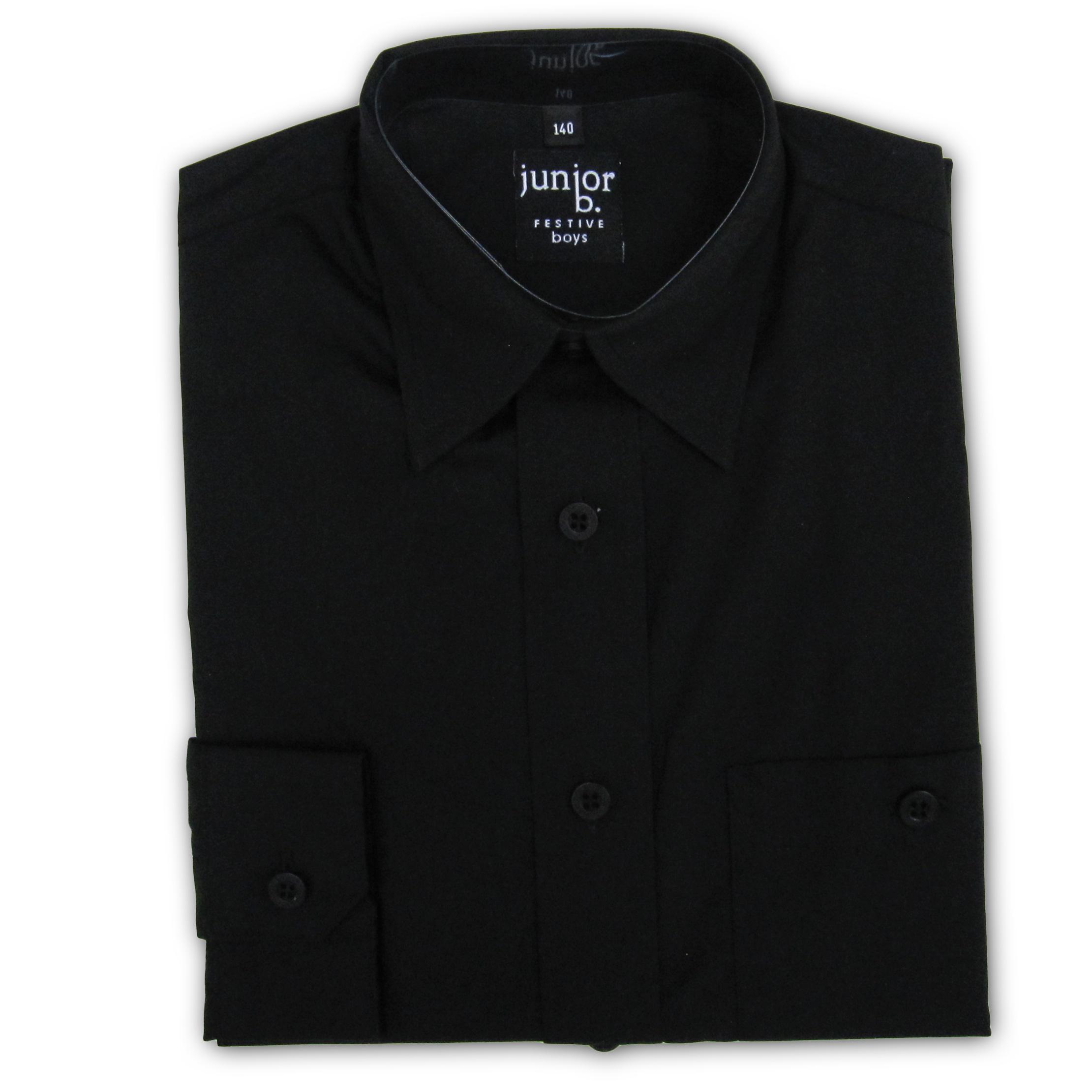 hemd f r jungen in schwarz kommunionhemd von junior b. Black Bedroom Furniture Sets. Home Design Ideas