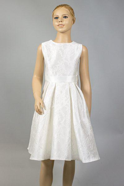 Kurzes Kommunionskleid mit Kellerfalten